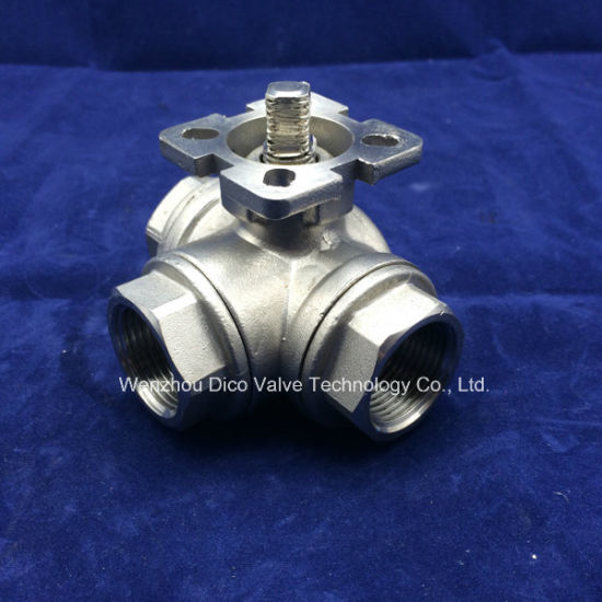 Ce 3 Way T Port Ball Valve with NPT Thread End pictures & photos