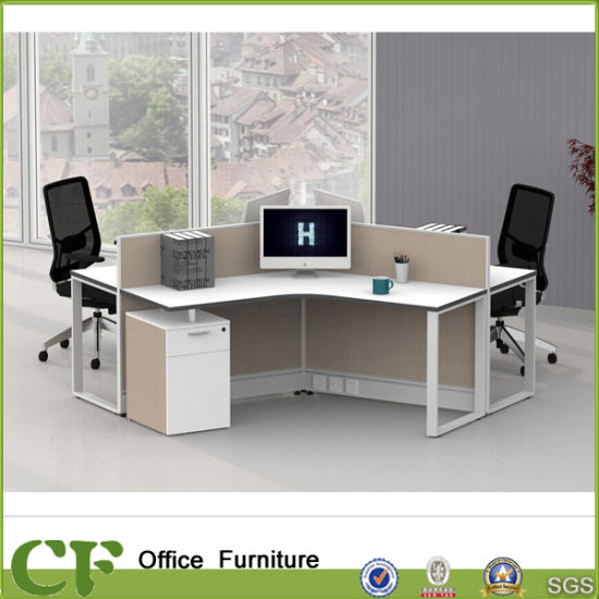 120 Degree Modular Office Cubicle For 3 Person