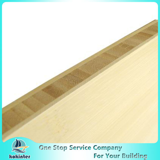 Vertical Single Ply 4mm Natural Edge Grain Bamboo Panel for Furniture/Worktop/Floor/Skateboard