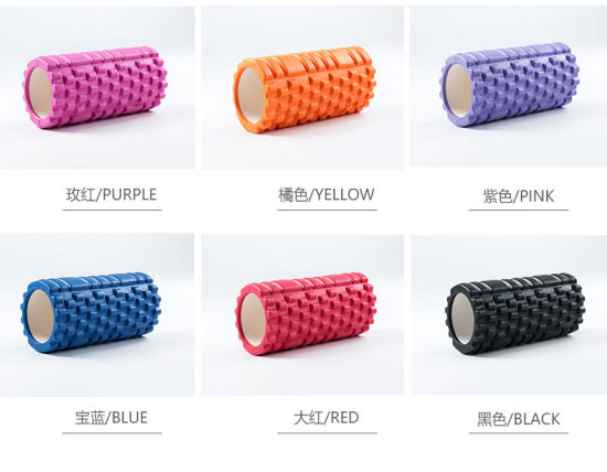 Dfaspo Home Exercise Gym Massage Grid EVA Hollow Column Fitness Pilates Yoga Foam Roller