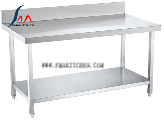 S/S Table With Back Splash U0026 Under Shelf/ Stainless Steel Work Table/Assembing  Working Table/Kitchen Table/Workbench (Square Tube)