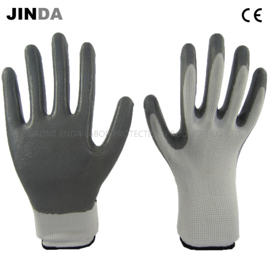 Nitrile Coated Labor Protective Industrial Working Safety Gloves (NS001)