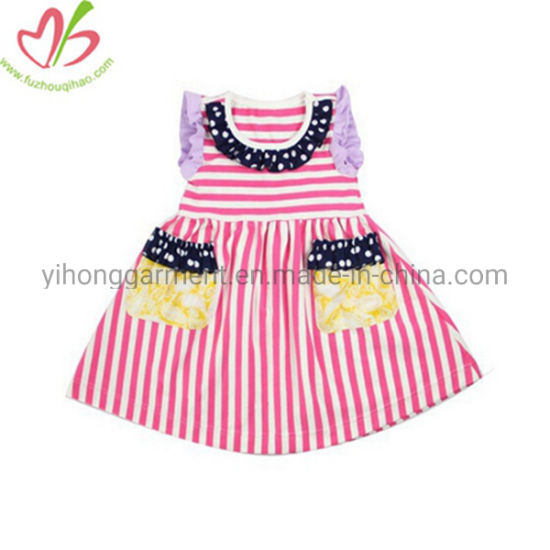 New Coming Wholesale Children Clothes Ruffles Fancy Dresses for Girls
