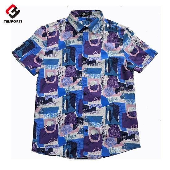 Wholesale Custom Printed Hawaiin Beach Shirts for Men