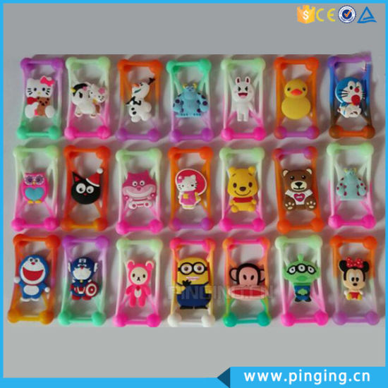 Wholesale Universal 3D Cartoon Silicone Mobile Phone Case for iPhone6 pictures & photos