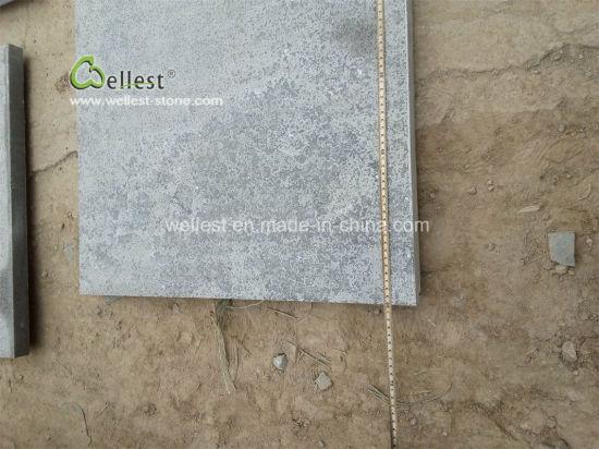 Flamed Anti Slip Grey Limestone Patio Paving Stone
