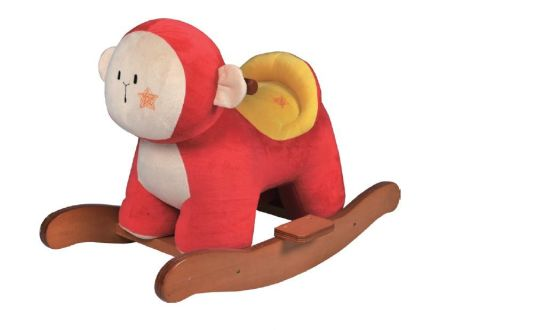 Wooden Rocking Horse-Red Monkey/Baby Toy