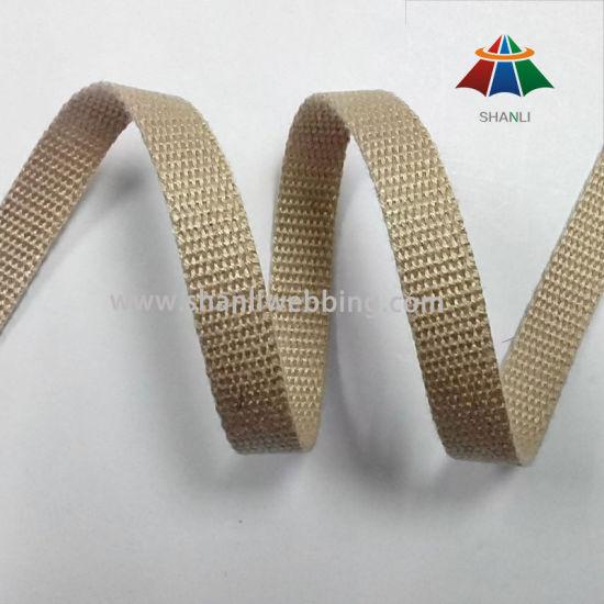 5mm Khaki Flat Cotton Webbing