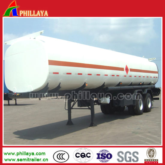 Low Price Steel Road Oil Tank Fuel Tanker Semi Trailer pictures & photos