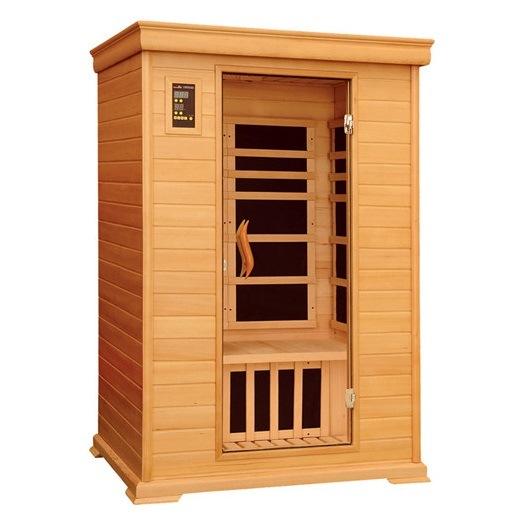 Ce Approved Infrared Hemlock Sauna Cabin for 2 People (SJ-002C)
