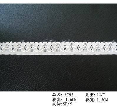 Tricot Lace for Clothing/Garment/Shoes/Bag/Case (Width: 2cm-150cm)