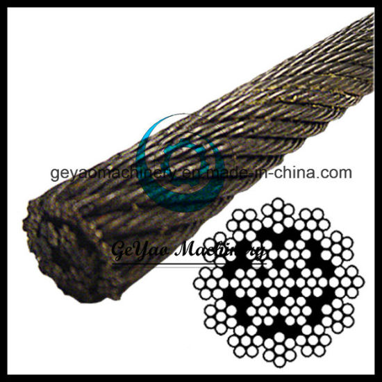 China 19*7 Iwrc Ungalvanized Wire Rope with Rotation Resistant ...