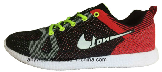 Athletic Men Footwear Flyknit Gym Sports Shoes (815-5687) pictures & photos