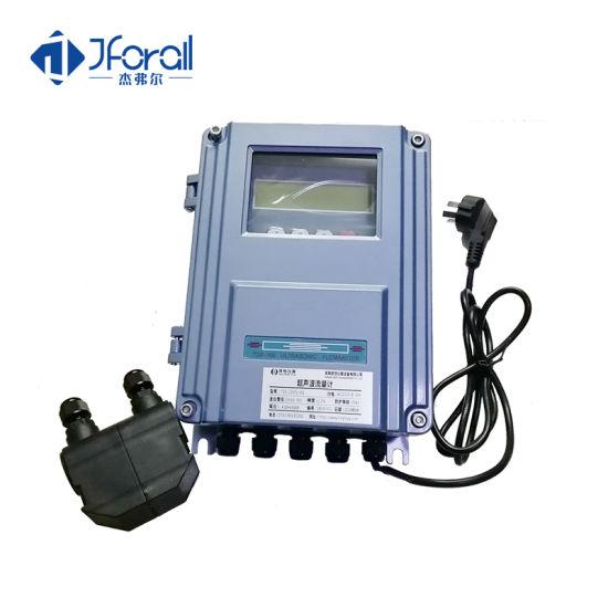 China Jfa460 Large Pipe Diameter Clamp Water Ultrasonic Flow Meter