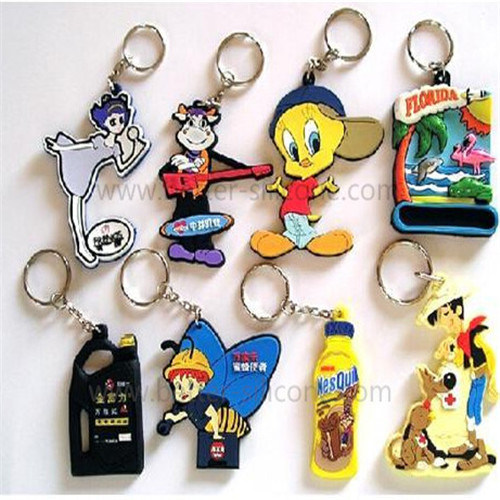 Fashionable Customized Silicon Rubber Key Rings pictures & photos