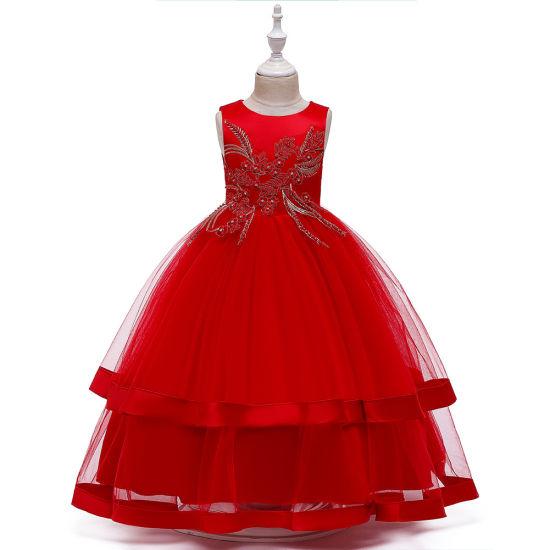 Chinese Vintage Style Tulle Dress Girl Carnival Costume For Children Fancy Dress