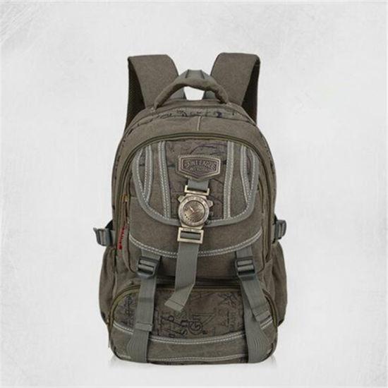 Male School Backpack Retro Canvas Shoulder Bag for Man Vertical Leisure Men Travel Bag Business Laptop Bag for Man Brand (GB#30066)