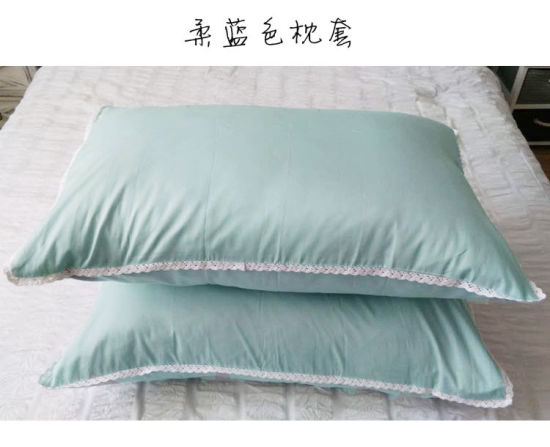 Twill Cotton 100% Cotton Color Bed Sheets Pillowcase pictures & photos