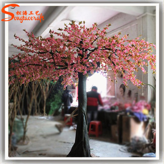 china artificial wedding decoration silk flowers cherry blossom tree