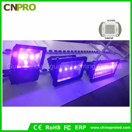Special Effects 100W UV LED Flood Light IP65 for Curing Blacklight Fishing Aquarium Glow pictures & photos