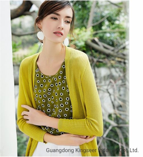 Lady New Design Fashion DOT Printing Sleeveless Green Color Chiffon T Shirt Vest for Women Clothes