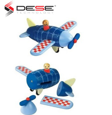Wood Magnetic Rockets Plane Helicopter Toy Transportation Educational Toy New