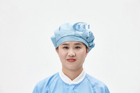 ESD Cleanroom Bouffant Hat Antistatic Cap for Electronics Industry