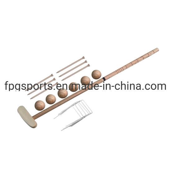 Wholesale Portable Wood Gress Golf Game Set