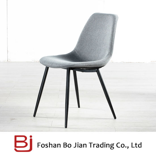 Moderen Nordic Style Fabric Stainless Legs Chair for Dining Room