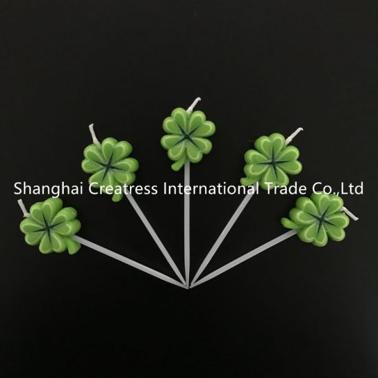 Remarkable China Top Mini Lucky Cute Clover Candles For Birthday Cakes Funny Birthday Cards Online Inifofree Goldxyz