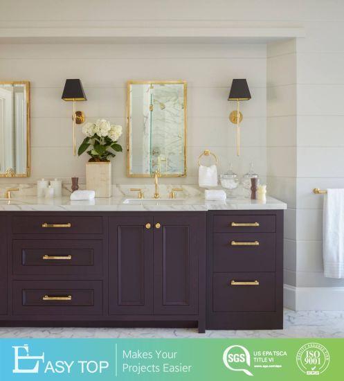 China Factory Customized PVC Door Vanity Mirror Traditional Bathroom Cabinet