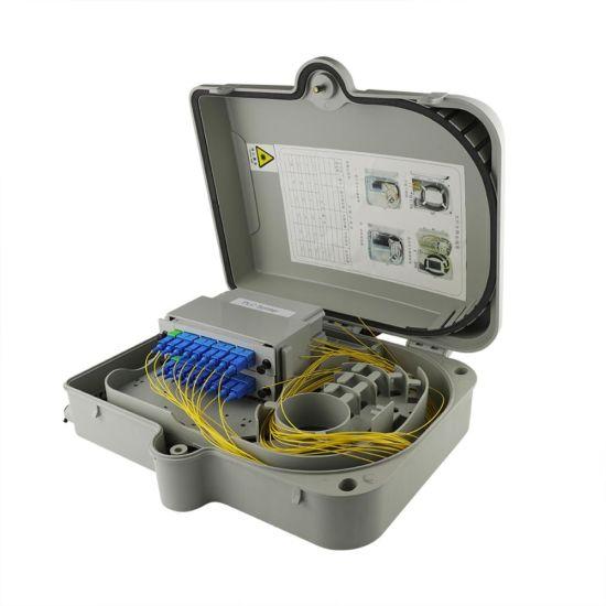 Szadp IP66 6core Fiber Optic Terminal Box with 1: 4 PLC Splitter 1: 2 PLC Spliter