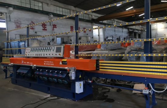 PLC Automatic Glass Straight-Line Bevel Grinder Machine