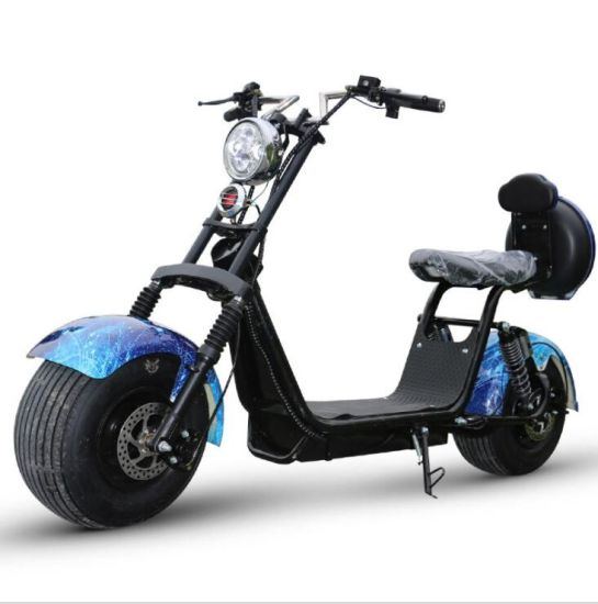 2 Seat Citycoco Ce 2000 W City Electric Citycoco Coc EEC 2000W 1500W Fat Tire Electric Scooter motorcycle