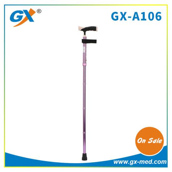 China Wholesale Height Adjustable Folding Walking Cane Stick with Light