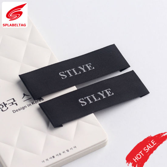 China Beautiful Custom Sewing Flat Woven Label for Pajamas