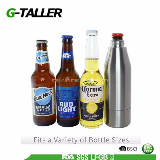 Double Wall Stainless Steel Insulator 12oz Beer Bottle
