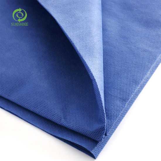 Hot Sell Super Soft SSS/SMS/SMMS Nonwoven Fabric for Isolation Gown