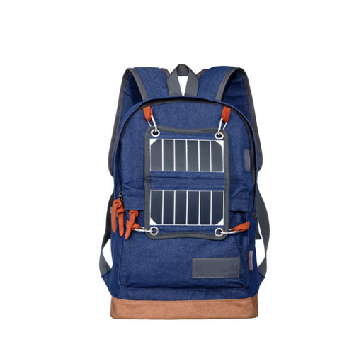 USB Sport Hiking Running Solar Power Panel Backpack with Solar Phone Charger for Outdoor Travel Camping Hiking Bag