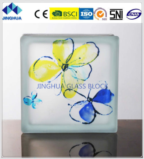 Jinghua High Quality Artistic P-31 Painting Glass Block/Brick