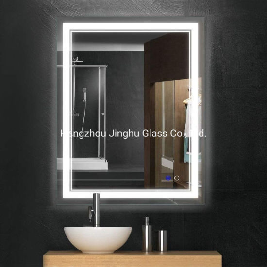 China Dimmable Led Lighted Bathroom, Makeup Mirror Lighted Wall Mount