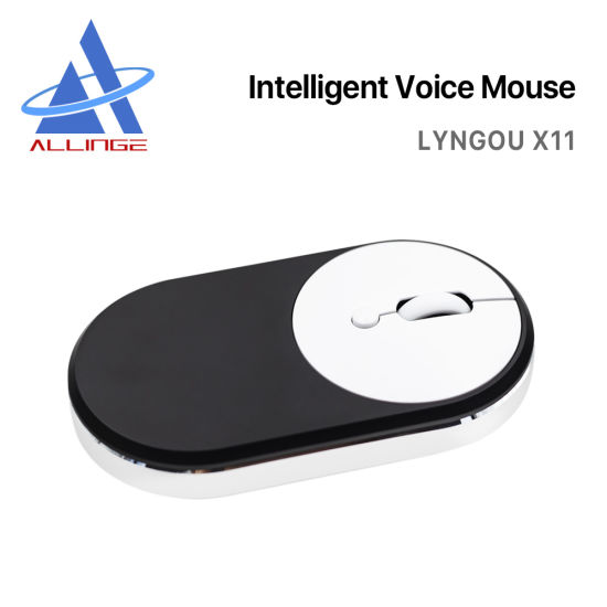 Lyngou LG065 X11 Rechargeable Battery Powered Smart Ai Voice Mouse with 28 Languages Voice Typing Computer Desktop Ai Mouse Auto Translate