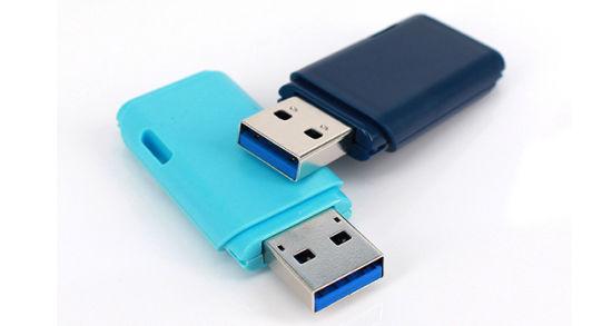 Light Blue Plastic Housing Flash Memory 2.0 USB Flash Drive/USB Pen Drive/USB Stick for Toshiba