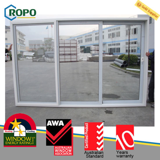 PVC 3 Track Sliding Door, Australia Standard Sliding Glass Door