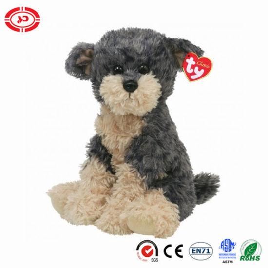 China Yapper Yorkie Ty Classic Plush Dog Sitting Fluffy Soft Toy
