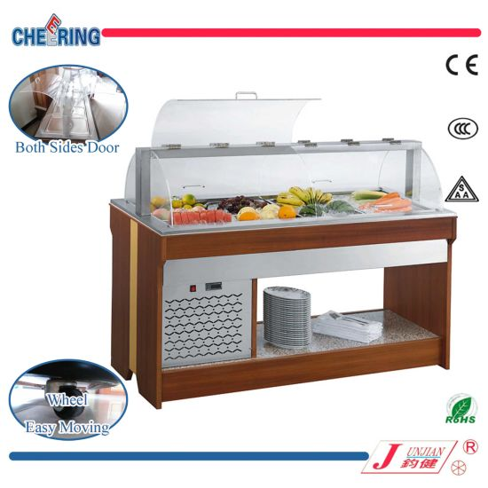2-Hoods Commercial Restaurant Salad Bar Refrigerator Freezer (M-P1500ZL4) pictures & photos