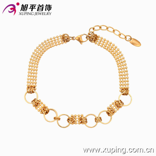 Fashion Xuping Simple L Women 18k Gold,Plated Jewelry Bracelet in  Environmental Copper , 73764