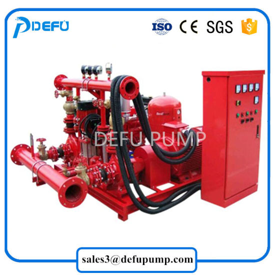 High Performance UL Listed Fire Fighting System Diesel Fire Pump Package  Jockey Pump