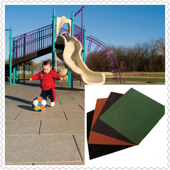Anti-Slip Rubber Paver/Playground Rubber Tiles/Outdoor Rubber Tile pictures & photos
