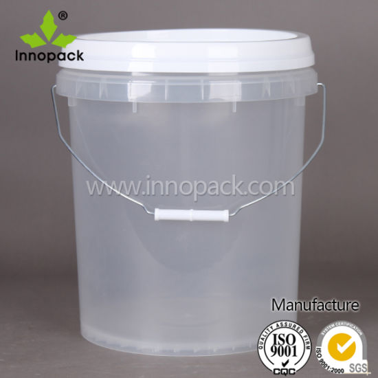 China Transparent Pail Plastic Bucket Plastic Large Clear
